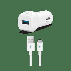 2CKQC01C ttec speedcharger quickcharge 3 arac ici sarj aleti beyaz 1