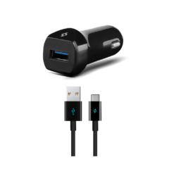 2CKQC01C ttec speedcharger quickcharge 3 arac ici sarj aleti siyah 1