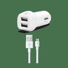 2CKS02UM ttec speedcharger duo micro usb kablolu arac ici sarj aleti beyaz 1