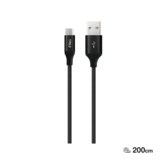 2DK21 ttec AlumiCable XL Micro USB Sarj Kablosu 2mt Siyah 1 1