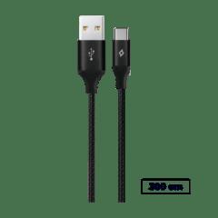 2DK24 ttec alumicable xxl typec sarj ve data kablosu siyah