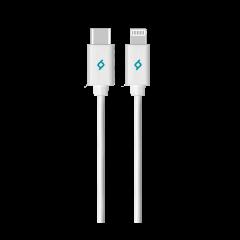 2DKM04 ttec typec lightning mfi sertifikali sarj kablosu beyaz