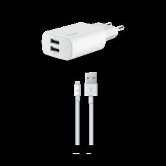 2SCM06B ttec Quantum Duo Apple MFi Lisansli Seyahat Sarj Aleti 1A2.4ALightning Kablo 1 1