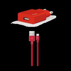 2SCS20LK ttec smartcharger lightning kablolu seyahat sarj aleti kirmizi