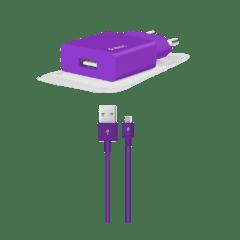 2SCS20MMR ttec smartcharger micro usb kalolu seyahat sarj aleti mor