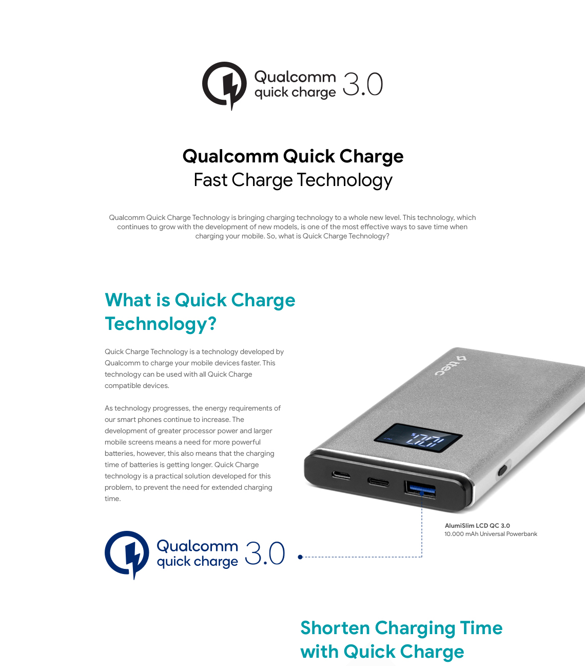What is quickcharge 3.0 technology